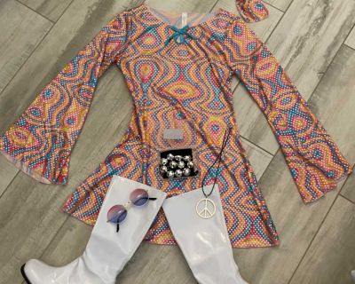 70 s costume and accessories with boots
