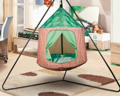 Hanging Indoor Outdoor Tent with stand and straps.