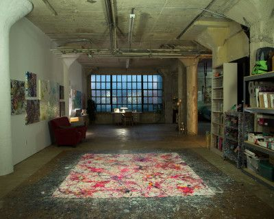 Abstract artist studio live/work DTLA with roof access, Los Angeles, CA