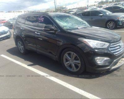 Salvage Black 2016 Hyundai Santa Fe