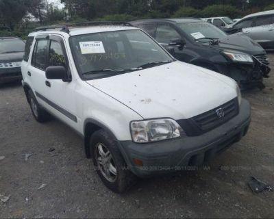 Salvage White 2001 Honda Cr-v