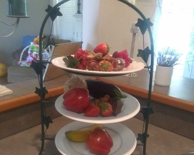 3 tier dessert tray. Can be used as fruit tray