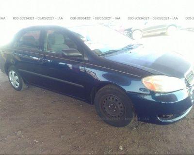 Salvage Dark Blue 2006 Toyota Corolla