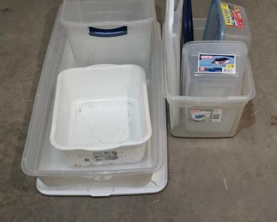Assorted storage containers