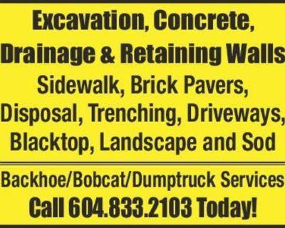 Excavation, Concrete, Drainage & Retaining Walls