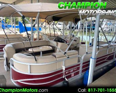 Used 2018 Sun Tracker Sportfish 22 DLX Fishing Pontoon Boat w/Mercury 115HP 4 Stroke