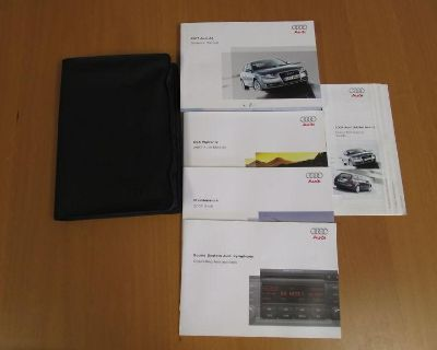 2007 Audi A4 Owners Manual Books Stock Oem Factory With Leather Binder