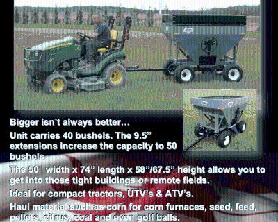 Other Market 40/50 Bushel Gravity Box (For 2- Ton Wagon)