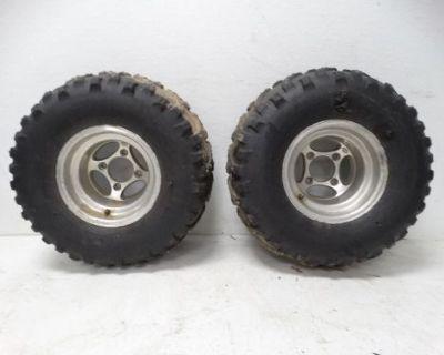 2003 Suzuki Ltz400 Ltz Atv Kenda Bear Claw 24x11-10 Studded Tires & Itp Rims