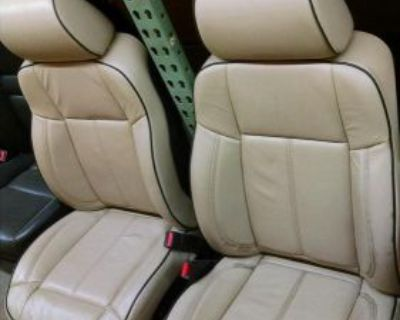 Hummer H3 Front Rear Seat Electric, Tan Leather Bucket 06 07 08 09 10