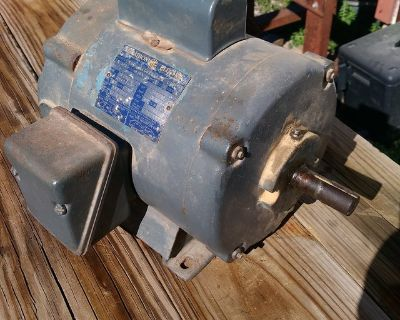 1 1/2 HP electric motor. Continuous use. 110 or 220 volts