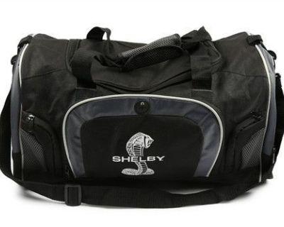 Shelby American Super Snake Black & Gray Duffle Bag Ford Mustang Gt500 Cobra Svt