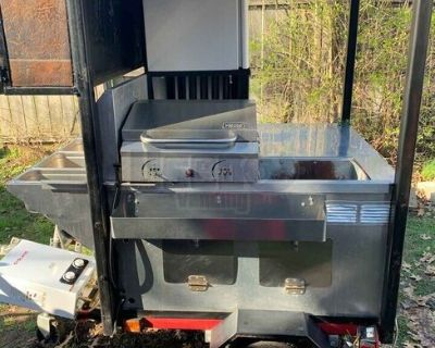 Hot Dog Concession Cart / Used Street Food Vending Concession Cart