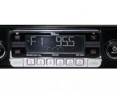 New Vintage 70's Style Am Fm Car Stereo Radio Ipod & Usb Inputs Mp3 & Cd Player