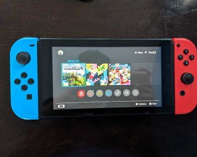 Nintendo switch with game's