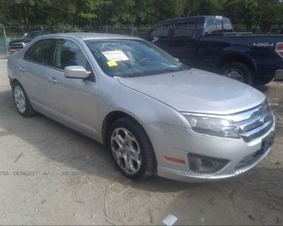 Salvage Silver 2010 Ford Fusion