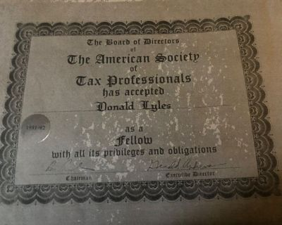 California Income Tax Consultant Retires After Four Decades Plus