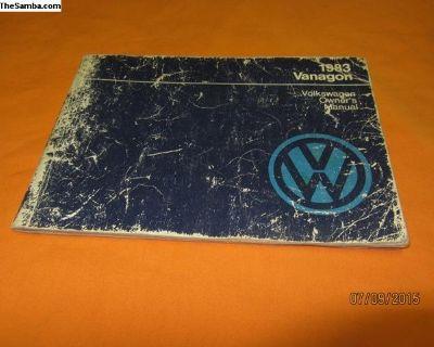 1983 vanagon owners manual