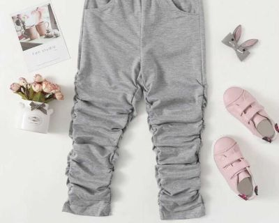 SHEIN Gray Stacked Pants