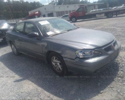 Salvage Blue 2004 Pontiac Grand Am