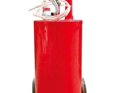 25 Gallon Steel Gas Caddy - Fuel Bio Diesel Kerosene Caddy Fluid Transfer Tool