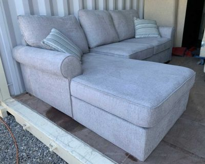 Light grey sectional sofa bed