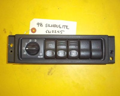 98 Oldsmobile Silhouette Rear Blower Wiper Fog Lamp Traction Control Switch Bank