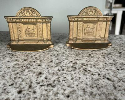Vintage pair of bookends