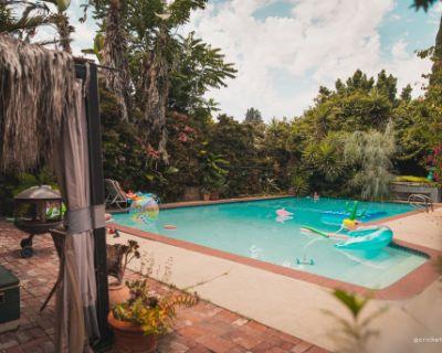 Cricket Ranch Bohemian Oasis Vintage Spanish Pool Home w/ Mustang & Private Yard, Van Nuys, CA