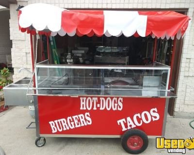 3 AVAILABLE- BRAND NEW 2021 Custom 4' x 8' Hot Dog Food Vending Concession Carts
