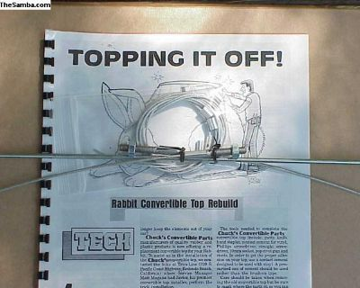 1980-93 rabbit convertible top cable set