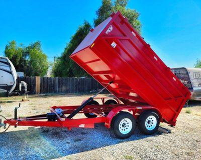 12x4 Equipment Dump Trailer Red