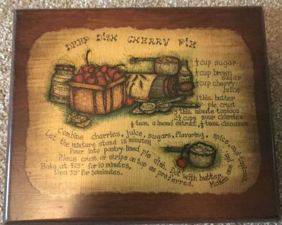 Cute cherry pie recipe for your kitchen wall