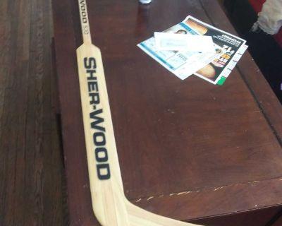 Brand new senior 530 Sherwood lefty goalie ice hockey stick