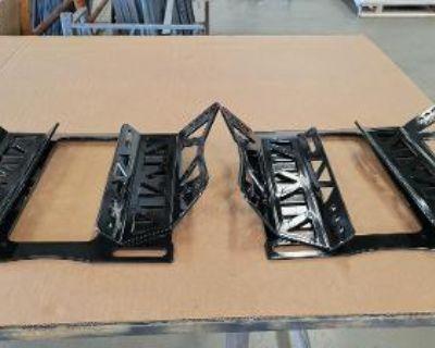 Team Z Kirkey Seat Brackets for Foxbody (Pair Fresh Powdercoat)