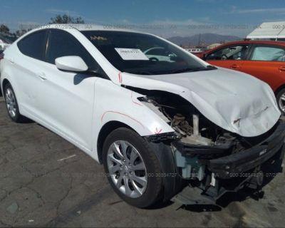 Salvage White 2011 Hyundai Elantra