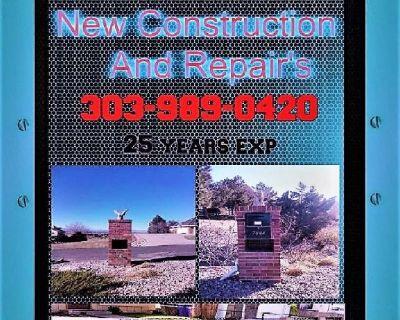 Brick , Block , Stone , New Construction and Repairs 303-989-0420