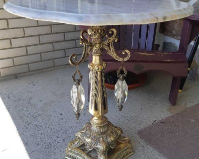 Beautiful Brass and Marble Side Table