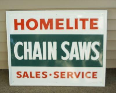 HOMELITE CHAIN SAWS SIGN