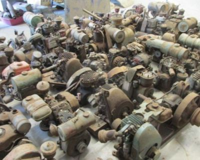 80 EARLY ENGINES- IRON HORSE- CLINTON-BRIGGS- MAYTAG AND MANY OTHERS