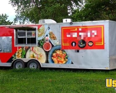 8' x 24' Kitchen and Catering Food Trailer with Pro-Fire Suppression