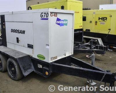 2012 DOOSAN 57 KW Generators, Electric Power