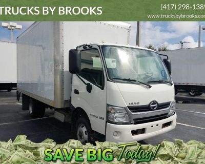 2017 HINO 155, 14500GVW with 16ft Van Body and Tuck under Lift Gate