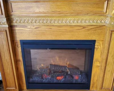 Electric Fireplace/Foyer electrique - Negotiable