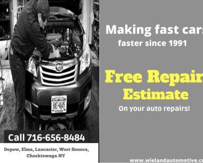 Auto Repair, Free estimates. Friendly service