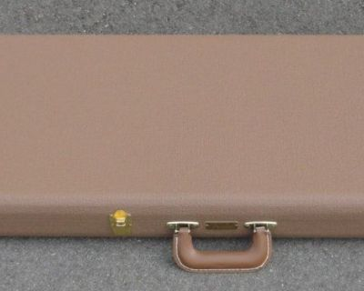 Fender Stratocaster/Telecaster Case - Brown W/ Orange Satin Int. BRAND NEW