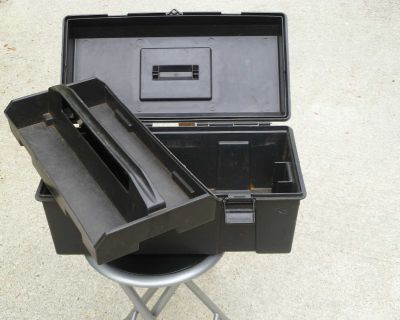 TOOLBOX with TRAY.-- $15