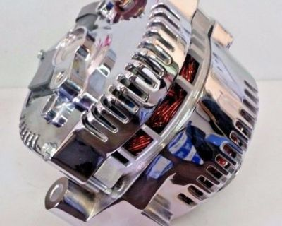 Ford Alternator 1 One Wire Chrome Alternator (fits Mustang & Others) 140 Amp Usa