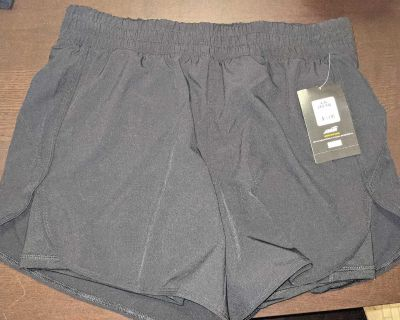 Size L (12/14) running shorts with bike liner