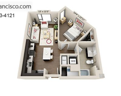 Apartment for Rent in San Francisco, California, Ref# 2267652